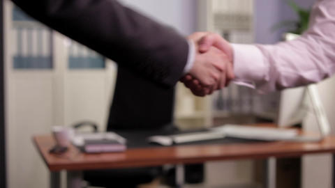 Shaking Hands After Making a Deal Footage