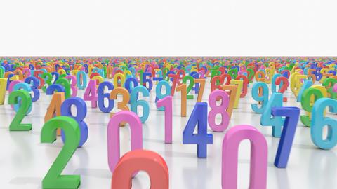 Endless numbers FLIGHT Stock Video Footage
