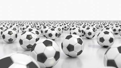 Endless soccer balls flight Animation