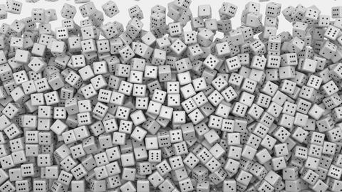 White dice fall Animation