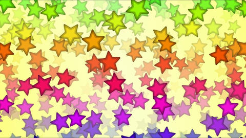 Falling Stars Animation - Loop Rainbow Animation