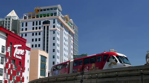 KUALA LUMPUR - February 2015: City view with monorail passing by Footage