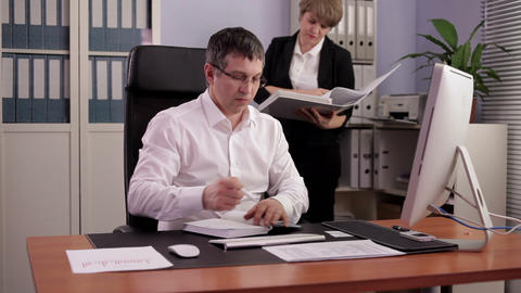 Financial Officer at Work Footage
