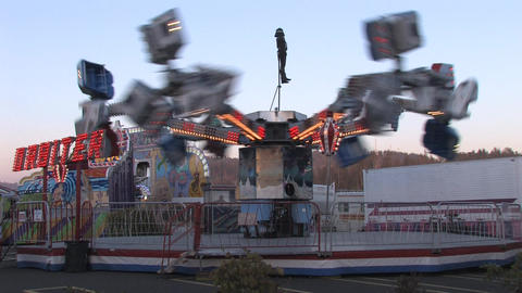 Carnival Rides Stock Video Footage