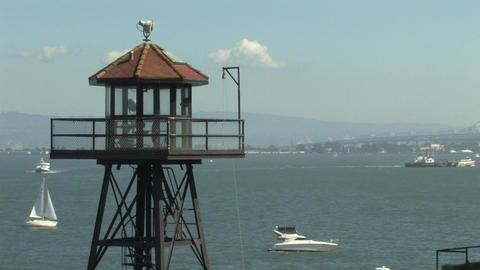Alcatraz Watch Tower Stock Video Footage