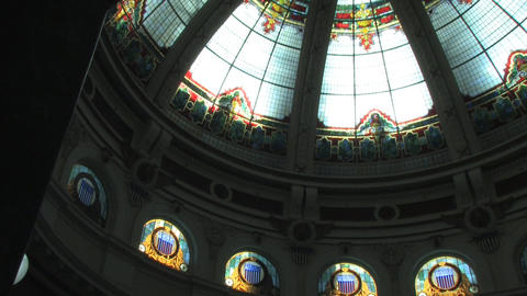 Courthouse Stain Glass and Decor Stock Video Footage