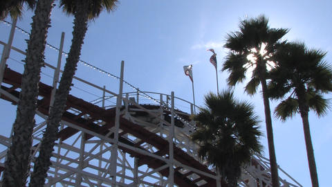 Amusement Park Rides Stock Video Footage