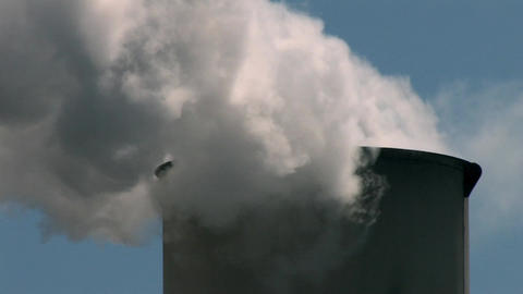 Smoke Stack, Air Pollution Stock Video Footage