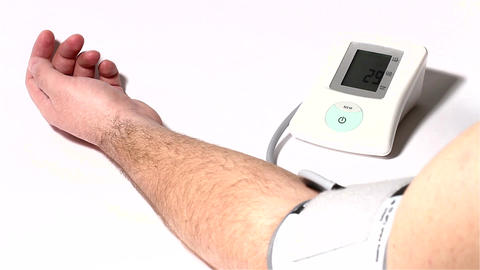 Checking Blood Pressure 01 Stock Video Footage