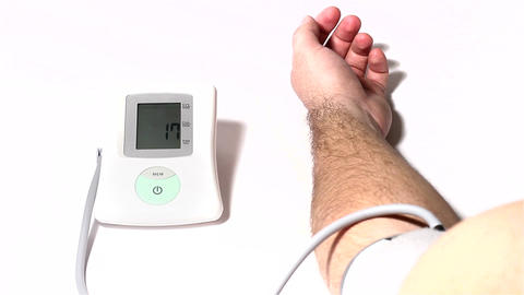 Checking Blood Pressure 03 Stock Video Footage