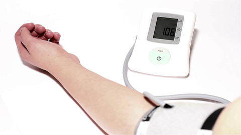 Checking Blood Pressure 05 Stock Video Footage