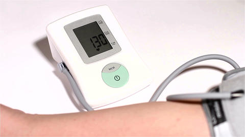 Checking Blood Pressure 07 Stock Video Footage