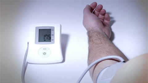 Checking Blood Pressure 19 stylized Stock Video Footage