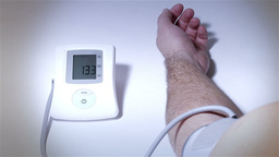 Checking Blood Pressure 19 stylized Footage