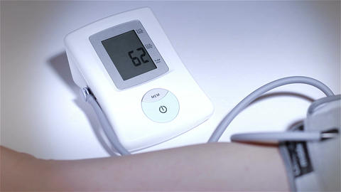 Checking Blood Pressure 21 stylized Stock Video Footage