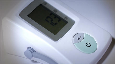 Checking Blood Pressure 27 closeup stylized Stock Video Footage