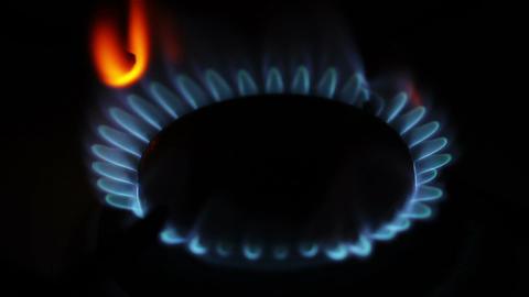Gas Flames 01 closeup Stock Video Footage