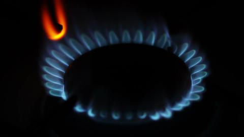 Gas Flames 01 closeup Footage