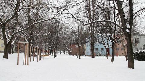 Snowy Suburb 05 Footage