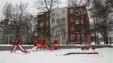 Snowy Suburb 07 playground Footage
