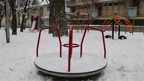 Snowy Suburb 11 playground Footage