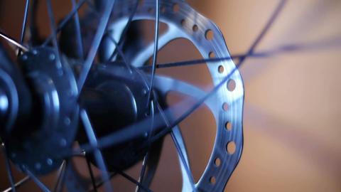 Bicycle Hub & Disc Brake 02 Stock Video Footage
