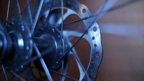 Bicycle Hub & Disc Brake 04 Stock Video Footage