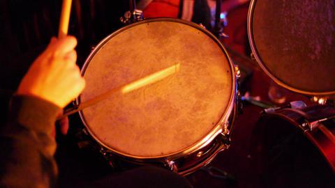 Drum Kit CU 04 Stock Video Footage