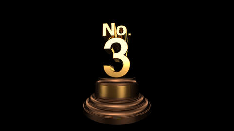 Number Trophy No 01-06B HD Animation