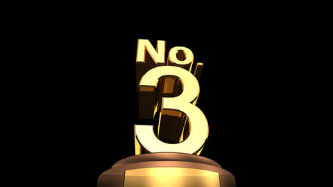 Number Trophy No 01-06D HD Animation