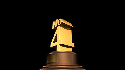 Number Trophy No 01-06D HD Stock Video Footage