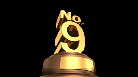 Number Trophy No 07 12F HD Animation