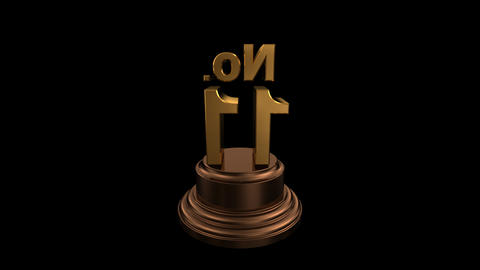 Number Trophy No 11 HD Stock Video Footage