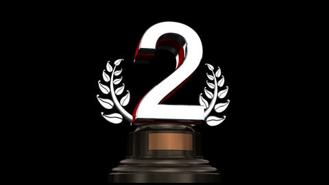 Number Trophy Prize 02a HD Stock Video Footage