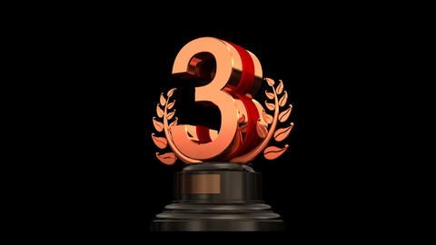Number Trophy Prize A HD Stock Video Footage