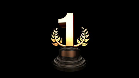 Number Trophy Prize B HD Stock Video Footage