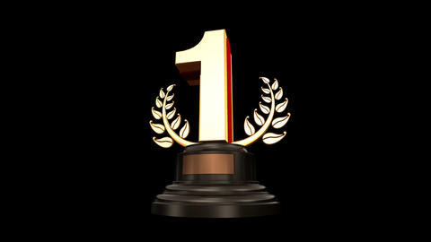 Number Trophy Prize C HD Stock Video Footage
