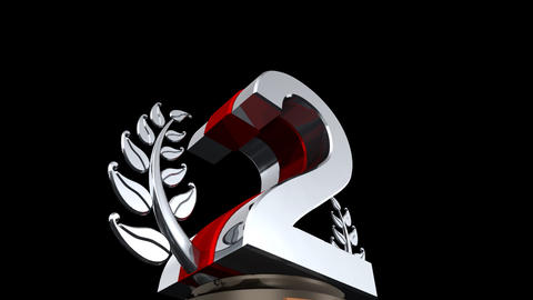 Number Trophy Prize D HD Stock Video Footage