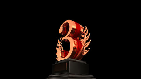 Number Trophy Prize Db HD Stock Video Footage