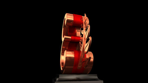 Number Trophy Prize Eb HD Stock Video Footage