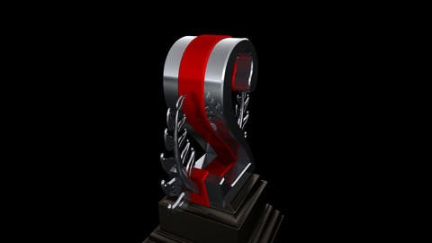 Number Trophy Prize Fb HD Stock Video Footage