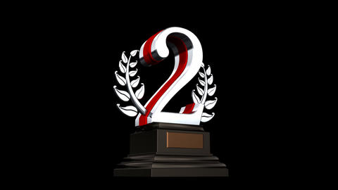Number Trophy Prize Gb HD Stock Video Footage