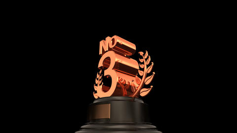 Number Trophy Prize No D HD Stock Video Footage