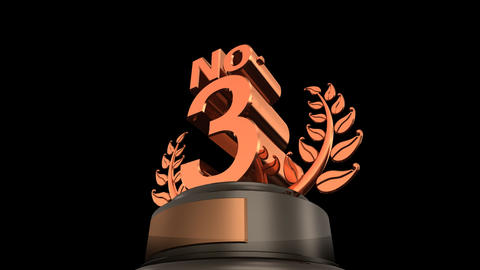 Number Trophy Prize No F HD Stock Video Footage