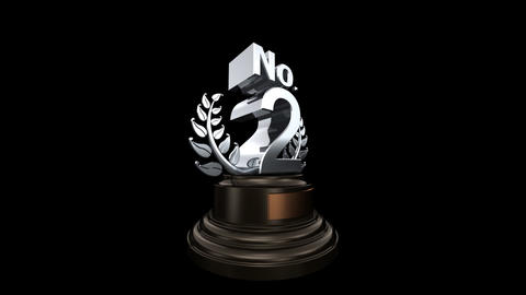 Number Trophy Prize No 02 HD Stock Video Footage