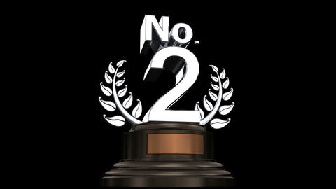 Number Trophy Prize No 02 HD Animation
