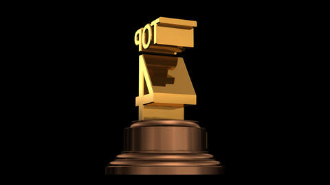 Number Trophy Top 01-05A HD stock footage