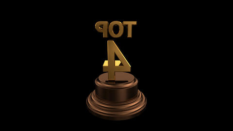 Number Trophy Top 01-05C HD stock footage