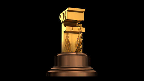 Number Trophy Top 01 HD Stock Video Footage