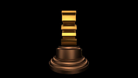 Number Trophy Top 03 HD Stock Video Footage